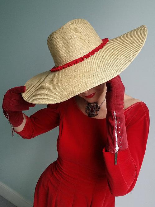Marina Red sun hat