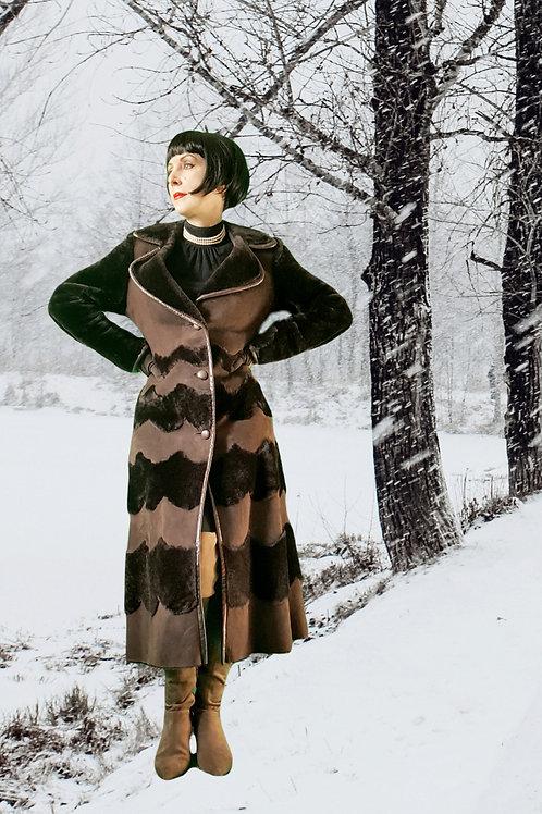 DKNY Epic & Exquisite luxurious & stylish real shearling sheepskin coat