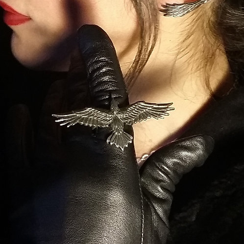 Black Consort Raven Span Ring by Alchemy