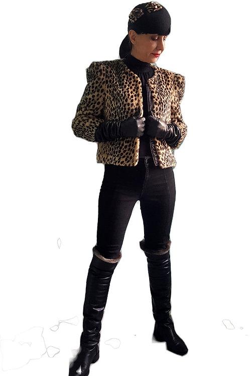 Ronit Zilkha Faux fur Leopard print jacket
