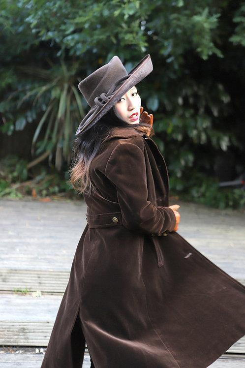 Vintage Cojana Velvet Frock coat