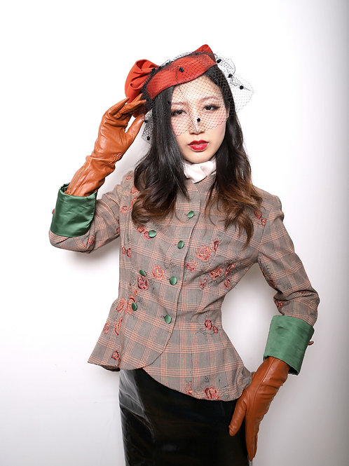 Fitted peplum 1940's inspired Jacket by Zorica Z