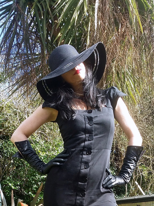 Riviera Wide Brim Hat with double transparent band