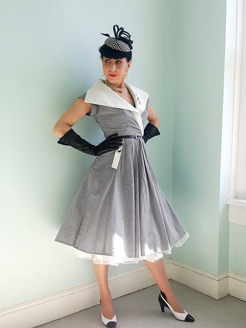 Original 1950s Suzy Perette  dress cotton size UK 6 to 8