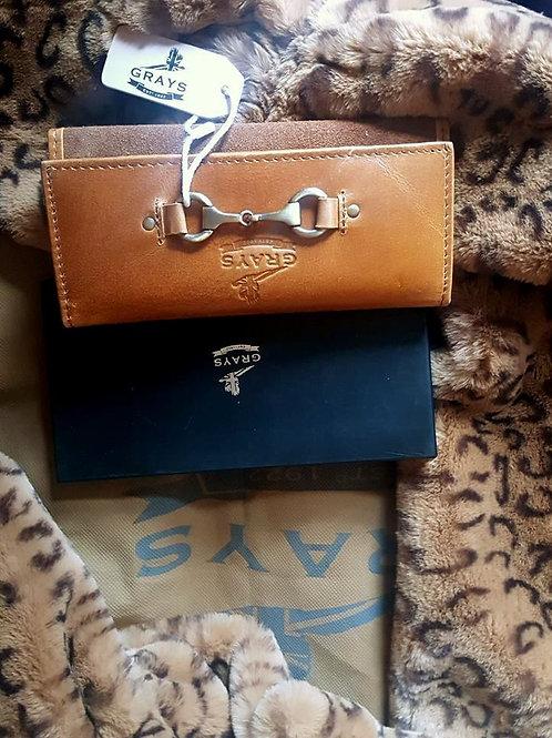 Grays Tan leather Purse/Wallet
