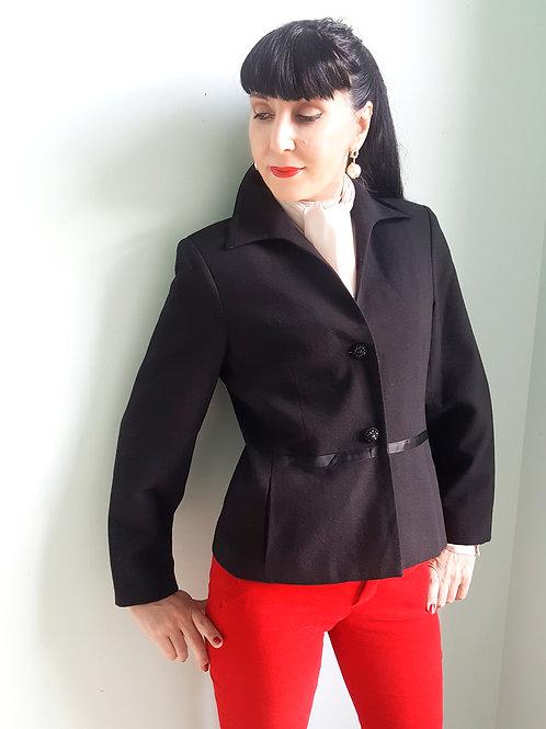 Vintage Bellessa 100% wool evening jacket 90s does 50s size UK 10