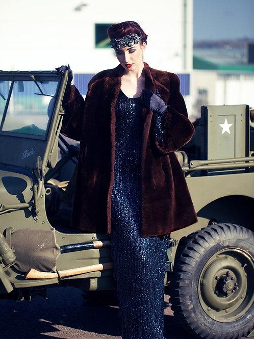 1940 Original Beaver lamb (Mouton - sheepskin) coat