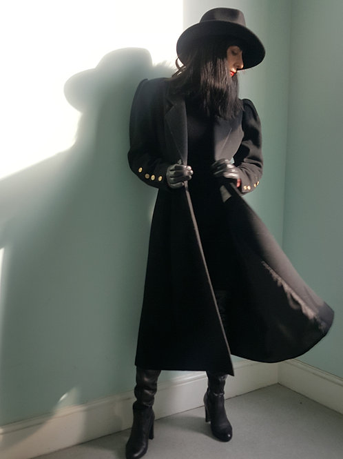 Mansfield fit and flare cashmere and wool coat