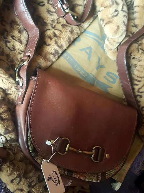 Dark Brown Leather Handbag by Grays