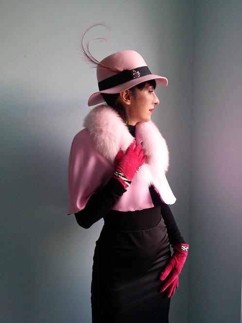 Baby Pink Fur Collar