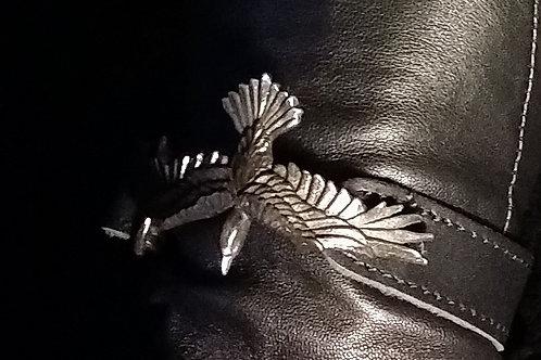 Black Consort Leather Wriststrap/bracelet