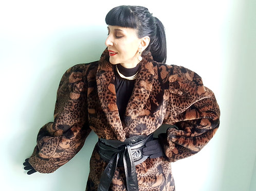 Atelier Apparence Faux Fur Disney coat 1980s immaculate