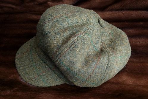 Baker Boy Tweed Cap Darker green
