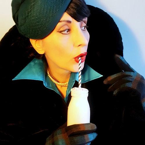 Hat & Glove Set: Vintage style Teal