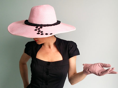 The Halfeti sun hat in pink