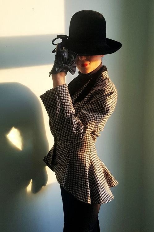 Vintage 80's iconic Houndstooth Mansfield Rising Jacket