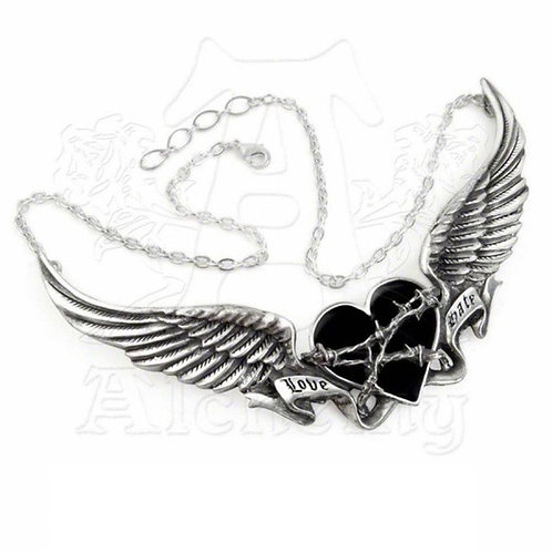 Dark Romance Barbed Heart 'Love-Hate' Necklace