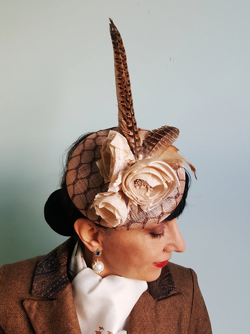 Rose & Feather hat