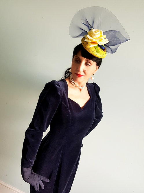 Yellow Rose Hat : my latest millinery creation