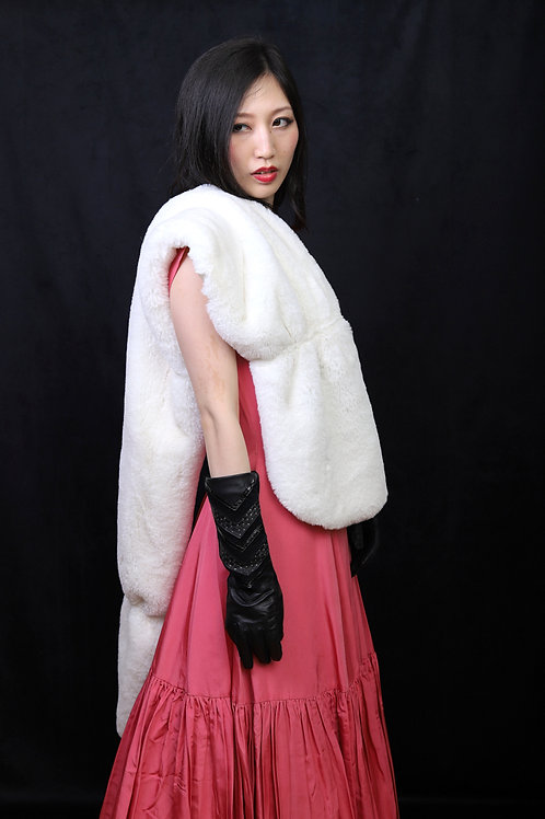 Faux Fur white stole