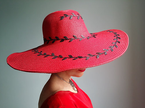"The Red Dahlia ""Romance"" Sun Hat"