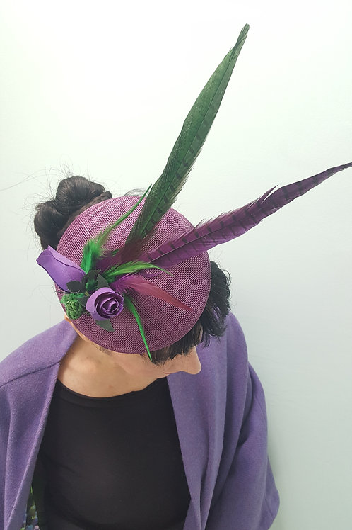 'Enchantress' Purple Rose Hat