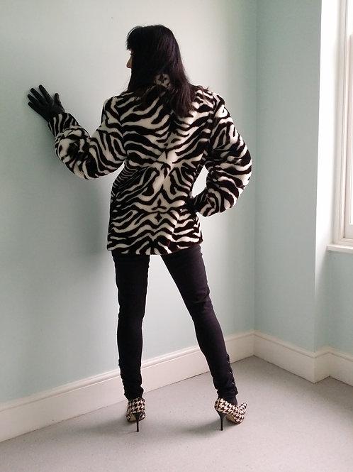 Lilli Ann vintage faux fur coat