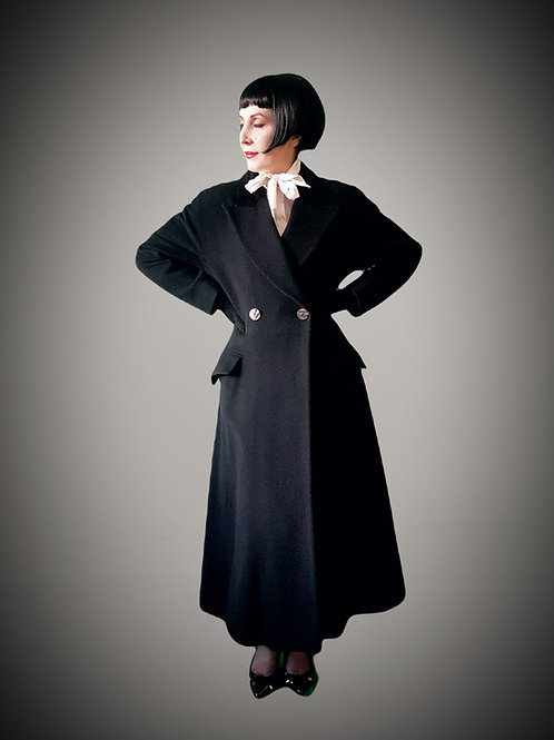 Austin Reed stylish fit and flare Wool & Cashmere, faux astrakhan coat