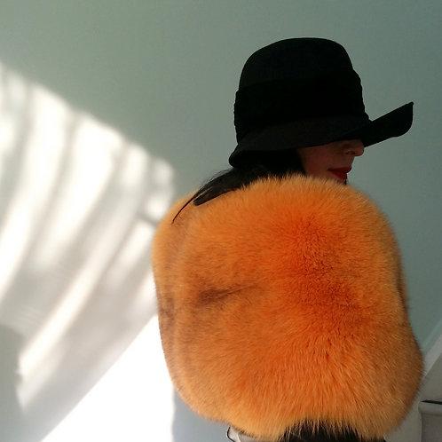 Luxurious orange fox fur stole vintage