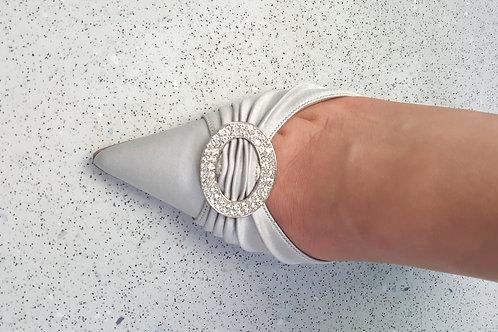 Ralph Lauren satin shoes diamante buckle Unworn size 5
