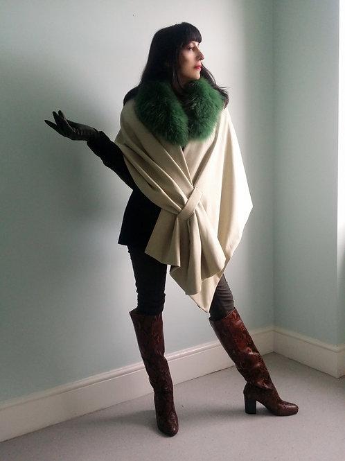 Montpelier Wrap in pale green tweed