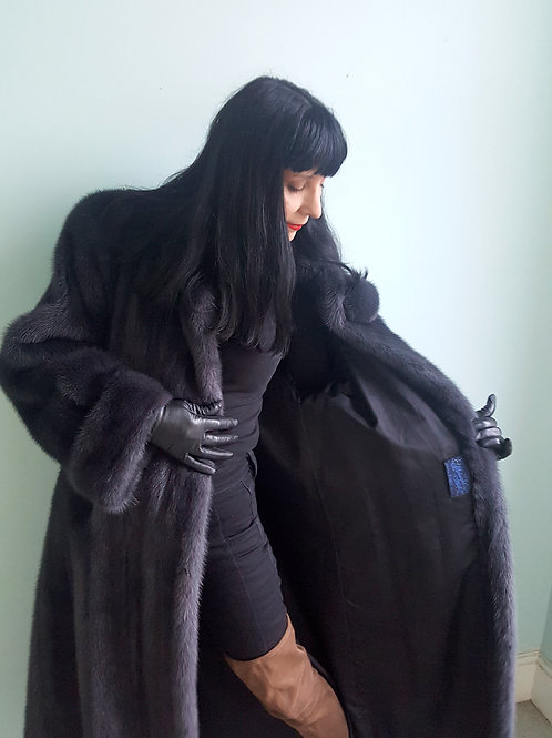 Very rare unusual Vintage 1980s Blue Mink coat Immaculate like new