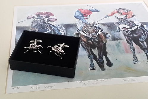 Special Gift Set for the Horseman : Fine Art plus Cufflinks