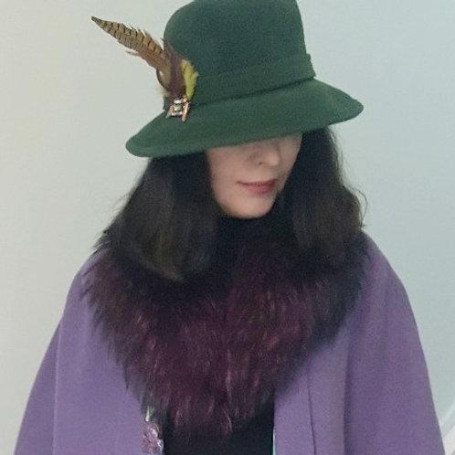 Purple Fur Collar