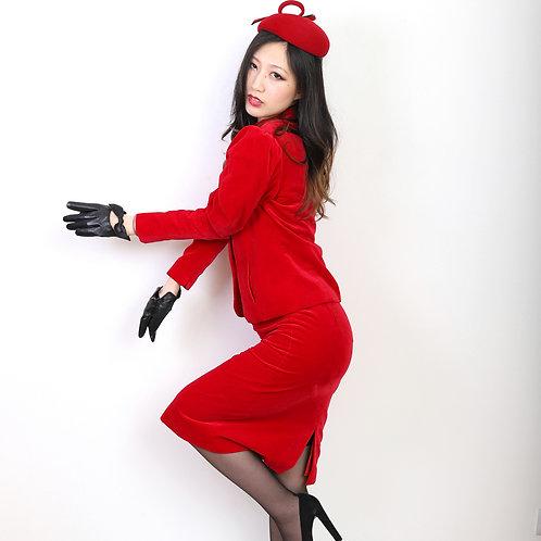 1980s Red Velvet Jacket