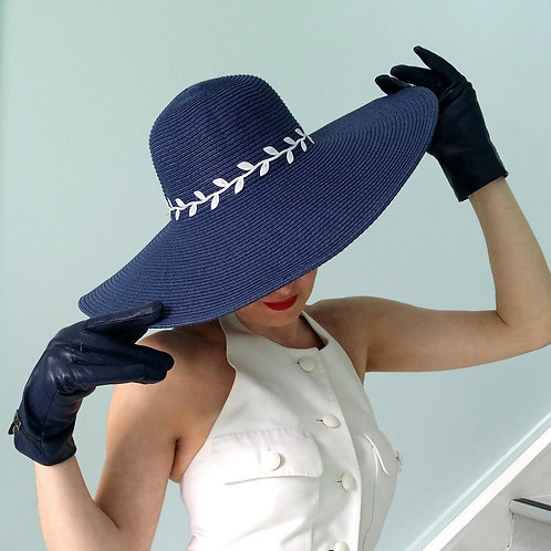 French Navy Romance Sun Hat