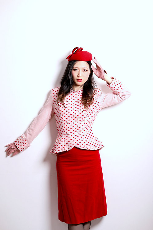 Pink and Red Tweed Jacket