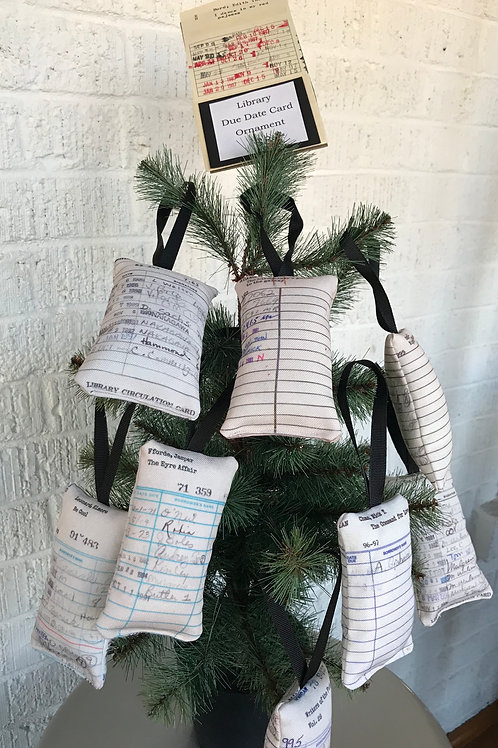 library book due date ornament