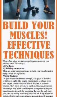 BUILD YOUR MUSCLES! EFFECTIVE TECHNIQUES BY Reema sarin