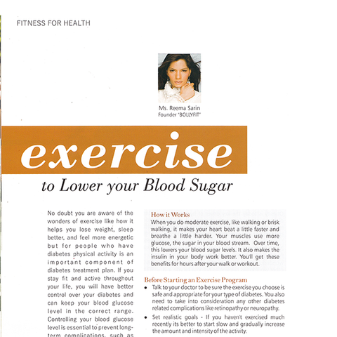 Exercise to Lower Your Blood Sugar
