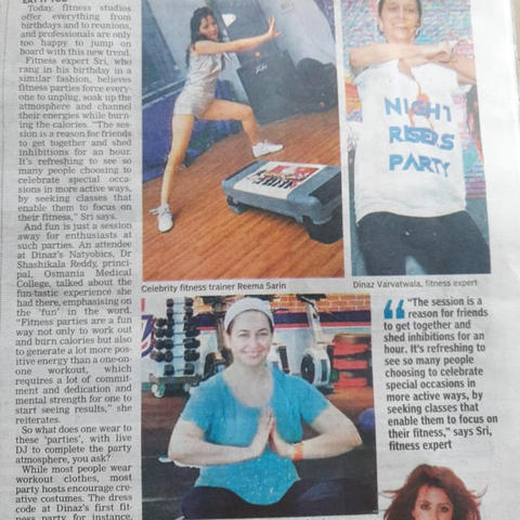 Workout Party Style with Reema Sarin, Founder BOLLYFIT