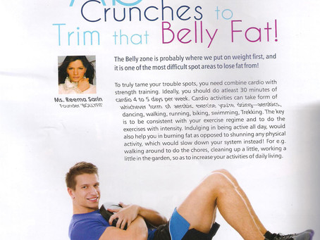 Ab Crunches to Trim that Belly Fat! By Reema Sarin, Founder BOLLYFIT