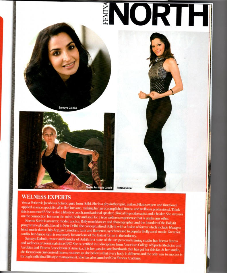 REEMA SARIN FEATURED IN WELLNESS EXPERTS,NORTH INDIA