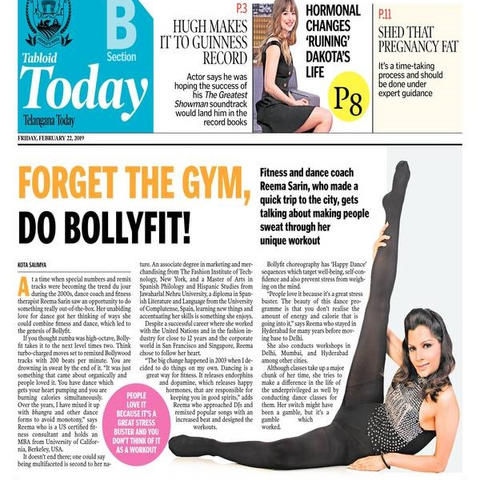 Don't Go to The Gym. Do BOLLYFIT!