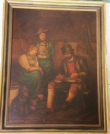 Defregger Franz der Zitherspieler auf der Alm