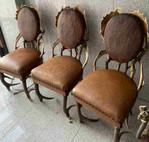 Antik Geweih Stühle