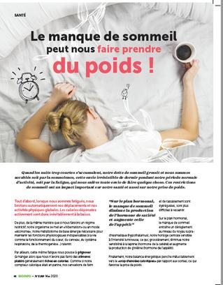 Comment notre sommeil influence -t-il notre poids ?