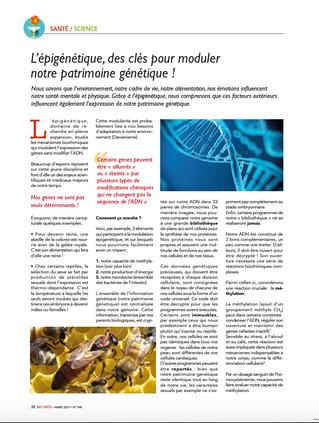 L'épigénétique, des clés pour moduler notre patrimoine génétique...