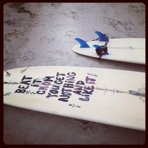 """Beat it Grom"" Laguna Beach Surboard Photo UNFRAMED"