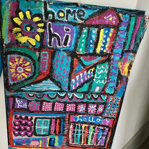 Hi Home Acrylic on Canvas